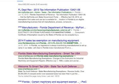 Florida State Manufacturing Exemptions