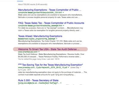 Texas State Manufacturing Exemptions