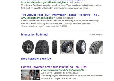 tire to fuel google