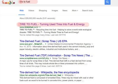tire to fuel seo