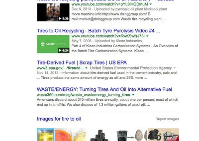 tire to oil google