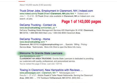 Claremont NH area trucking