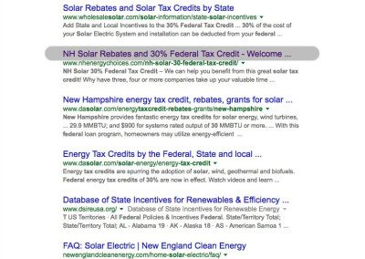 NH Solar 30 percent Federal Tax Credit