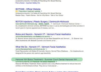 Hanover NH Botox Treatment page 1 google