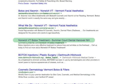 Norwich VT Botox Treatment page 1 google