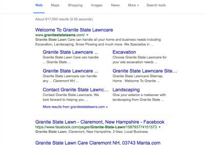 Granite State Lawns SEO Report For NH - WELCOME TO SVEND DESIGN